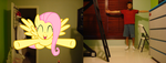 Fluttershy is gonna hug me!!! by luisbonilla