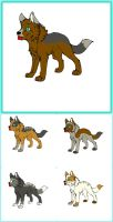 Last Lineof Pups . Hero and Ally by MichelsAdoptions