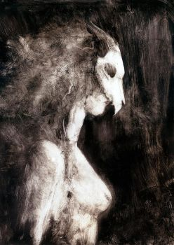 Wild Woman - Dry Point by Kaelycea