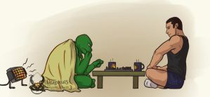 TMNT Something Unexpected Bishop N Raph Chess by Dragona15