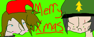 Merry Christmas from Me and Ze Docter by ZombieGirlHunter