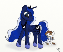 Luna and Pipsqueak by dennyhooves