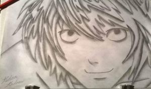Drawing #19 'L' - Death Note by AidanJA
