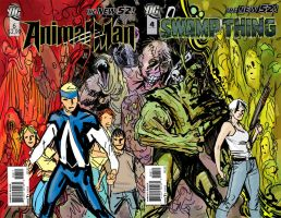SWAMP THING and ANIMAL MAN 12 plan by YanickPaquette
