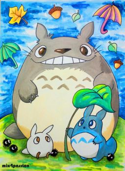 Totoro by mix4passion