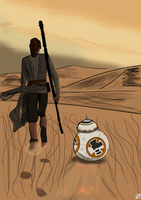 Star Wars the Force Awakens by Leie