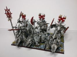 Bloodcrushers of Khorne Black and White view 3 by McGoe