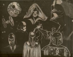 Star Wars Scratchboard by CrazyInsaneJess