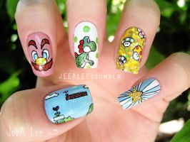 Super Mario Bros. Nails by jeealee