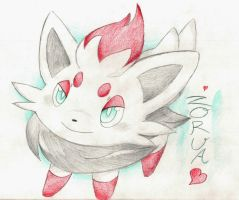 Little Zorua~ by foreverbluejeans
