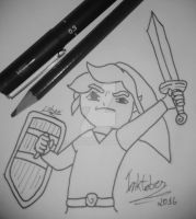 Inktober 2016 - Day 8: Link by lubans