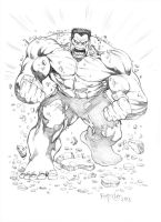 Red Hulk by fernandomerlo