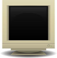 Vectorized CRT Monitor Stock [PNG] by Halfingr
