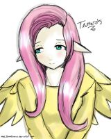 MLP FIM- Fluttershy [Anime Version] by MelSpontaneus