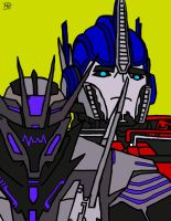 Soundwave And Optimus Prime by YaFArts
