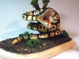 snake painted completed and mounted 3 by rvbass