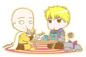 Saitama and Genos by MugenMusouka