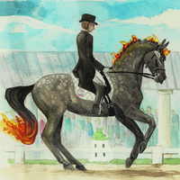Dressage with Lady Elsiwen. by Memuii