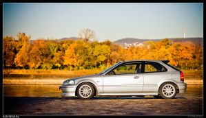 Civic In Autumn 01 by miki3d