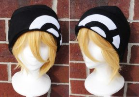 Pokemon X and Y Trainer Hat - Black and White by akiseo
