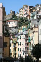 look to houses cinque terre 4 by ingeline-art