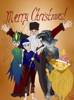 Merry Christmas from the Guardians by Sticksandstones713