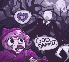 GOD DAMMIT IT SLENDERMAN by Lazereyes