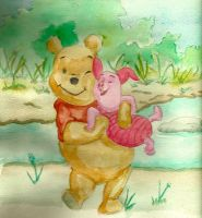 Winnie and Piglet by Dyvyan