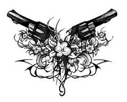 2 Guns And A Flower. by Vanity1234