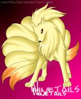 Ninetails by wolfpainter