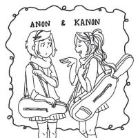 Anon And Kanon Coloring Page by StacheRabbit