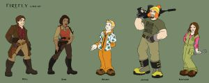 Firefly Animated Series Lineup by xanykaos