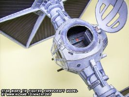 Papercraft Star Wars TIE-fighter interior 1 by ninjatoespapercraft
