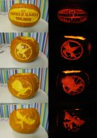 Hunger Games Trilogy Pumpkin by SuperJule