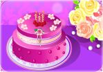 B-day cake - Pink Rose by Erozja