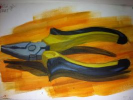 Pliers painting by Bartok88