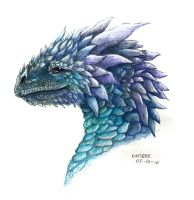 Ice dragon for TeardropDragon by Liedeke