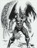 Battle damage Hawkman by -vassago-