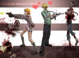 Zombies and Cuteness by sarahmandrake