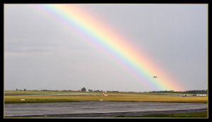 Landing before the rainbow by Skyrover