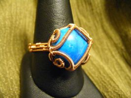 Howlite Coiled Cab Ring by BacktoEarthCreations