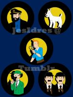 Tintin Buttons by JesIdres