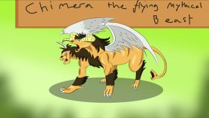 Chimera the Flying Mythical Beast by Louisetheanimator