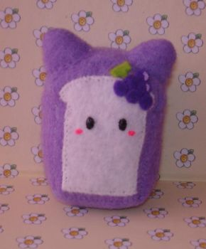 Grape cat bread plushie by Kittyportugal