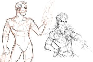 Fallout: Evil Gabriel and Michael(WIP) by SatiricalKat