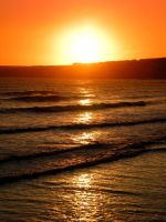 tramore sunset by tinkerbelll27