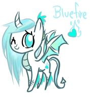 My Little OC: Bluefire the Dragon Pony by GeekPony
