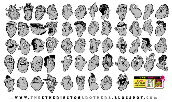 62 Character Design and Expression References by STUDIOBLINKTWICE