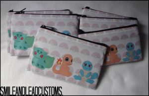 Kanto Starters Zipper Pouch - FOR SALE. by SmileAndLead