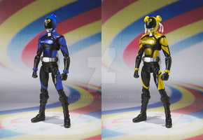 WhatIf Set Figuarts AkibaBlue and Yellow (Male) S2 by Zeltrax987